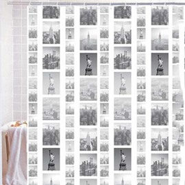 Stylish New York Buildings Print Shower Curtain