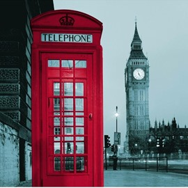 60 3d big ben and red telephone booth printed polyester bathroom shower curtain