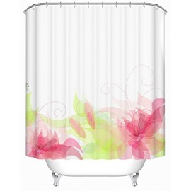 Dreamlike Romantic Delicate Jacquard Polyester Shower Curtain