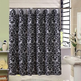 High Grade Jacquard Polyester Black Shower Curtain