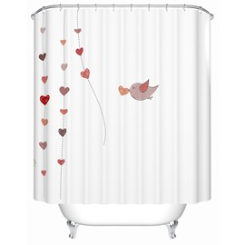 Fresh  Creative waterproof  Shower Curtains