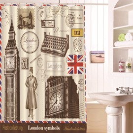 Europe Type Personality Waterproof Shower Curtains