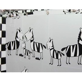 Little Zebra PEVA  Environmental Protection Waterproof Shower Curtains