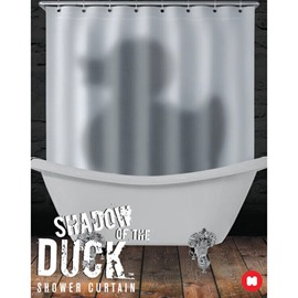 Mysterious Unique Duck Shadow Design Bathroom Shower Curtain