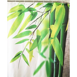 Peaceful Bright Bamboo Leaves Design Shower Curtain