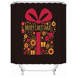 Creative Design Simple Chirstmas Present Box Shower Curain