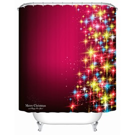 Graceful Unique Design Shining Stars Shower Curtain