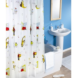 Lovely Cartoon Music Class Print Shower Curtain