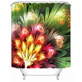 Colored Draw Flower Print Bathroom Shower Curtain