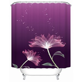 Freehand Lotus Print Bathroom Shower Curtain