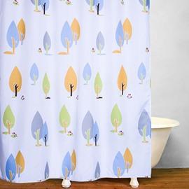 Lovely Hand Painted Trees Print Bathroom Decor Shower Curtain