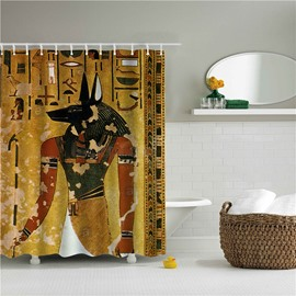 3D Man with Animal Head Printed Polyester Bathroom Shower Curtain