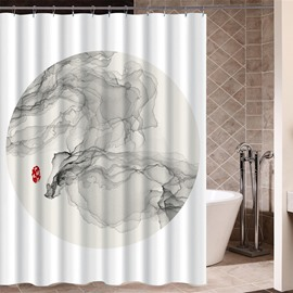 Waterproof Wash Painting Pattern Polyester Material Bathroom Shower Curtain