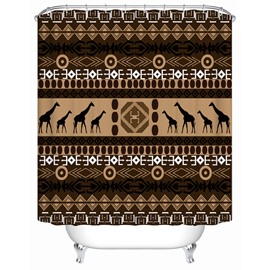 European Style Creative Design Pattern Polyester Material Shower Curtain