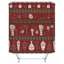 Mildew Resistant Creative Pattern Polyester Material Shower Curtain