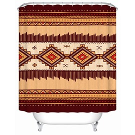 Geometric Pattern Eco-friendly Material Mildew Resistant Shower Curtain