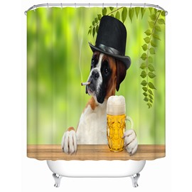 Creative Design Pattern Polyester Material Anti-Bacterial Shower Curtain