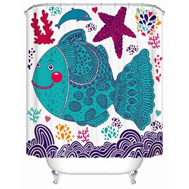 Cartoon Pattern Eco-friendly Material Waterproof Anti-Bacterial Shower Curtain