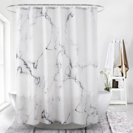 Creative 3D Printing Marble Waterproof Polyester Shower Curtain