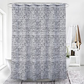 Simple Style Stripe Pattern Waterproof Polyester Shower Curtain