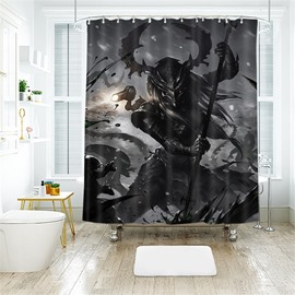 Orcish Pattern Halloween Style Polyester Anti-Bacterial Shower Curtain