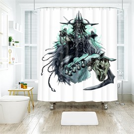 Monster Pattern Halloween Style Polyester Anti-Bacterial Shower Curtain