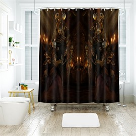 Halloween Skull Scene Pattern Polyester Anti-Bacterial Shower Curtain