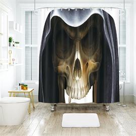 Skull Creative Halloween Scene Pattern Polyester Anti-Bacterial Shower Curtain