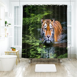 Tiger 3D Printed Polyester Bathroom Shower Curtain