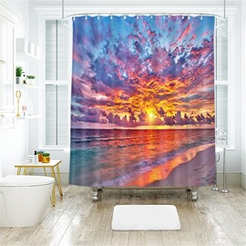 Sunset Clouds 3D Printed Polyester Bathroom Shower Curtain