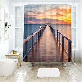 Bridge 3D Printed Polyester Bathroom Shower Curtain