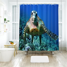 Sea Turtle 3D Printed Polyester Bathroom Shower Curtain