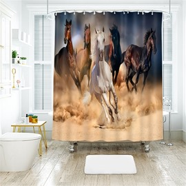Running Horse 3D Printed Polyester Bathroom Shower Curtain