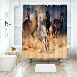 Running Horse 3D Printed Polyester Bathroom Shower Curtain