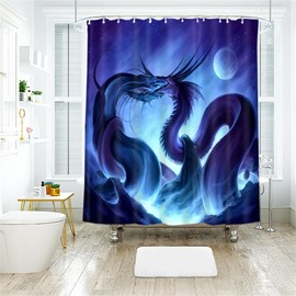 Creative Dragon 3D Printed Polyester Bathroom Shower Curtain