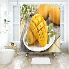 Mango 3D Printed Polyester Bathroom Shower Curtain
