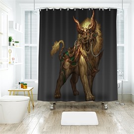 Mythical Creatures 3D Printed Polyester Bathroom Shower Curtain