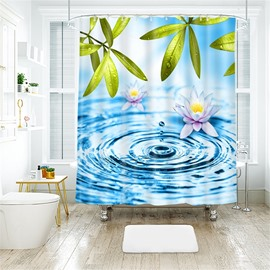 Water Drop 3D Printed Polyester Bathroom Shower Curtain