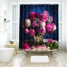 Beautiful Vase 3D Printed Polyester Bathroom Shower Curtain