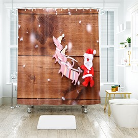 Special Cloth Art Santa Claus Bathroom Shower Curtain