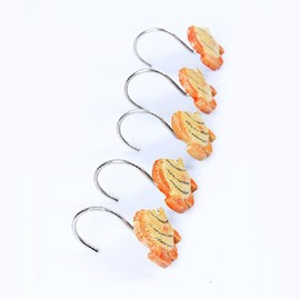 Cute Cartoon Fish Design Shower Curtain Hooks