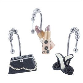 Fashion Novel Modern Lady Design Shower Curtain Hooks