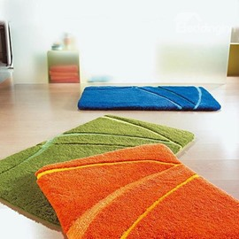 Simple Style Lines Pattern Non-slip Bath Rug