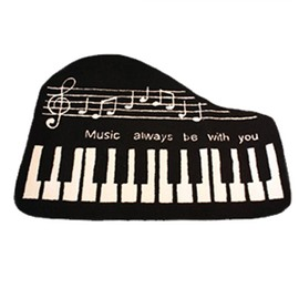Cool Piano Key Soft Anti-slip Bath Rug