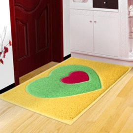 New Style Elegant 2 Pieces Double-Heart Design Bath Rug