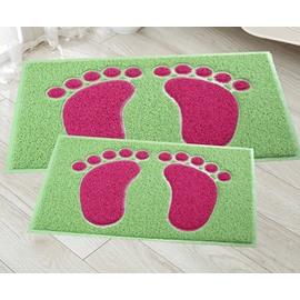 New Style Lovely Unique 2 Pieces Feet Design Bath Rug