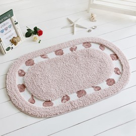 Modern Home Decor Concise Shell Printing Soft Bath Rug