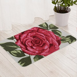 Romantic 3D Rose Pattern Anti-Slipping Doormat
