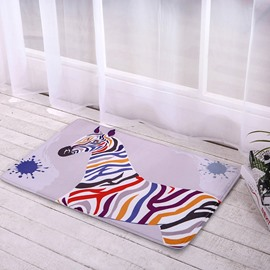 New Arrival Colorful Zebra Home Decorative Doormat