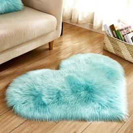 Simple Love Shape Wool-like Carpet for Living Room Bedroom Floor